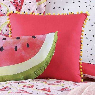 Kids Fruity Pom Pom Pillow