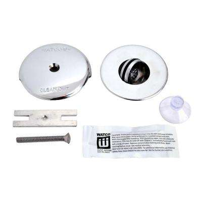 NuFit PresFlo Bathtub Stopper with One Hole Overflow and Silicone Kit in Chrome Plated