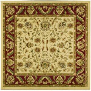 Lyndhurst Ivory Red 8 Ft X Square Area Rug