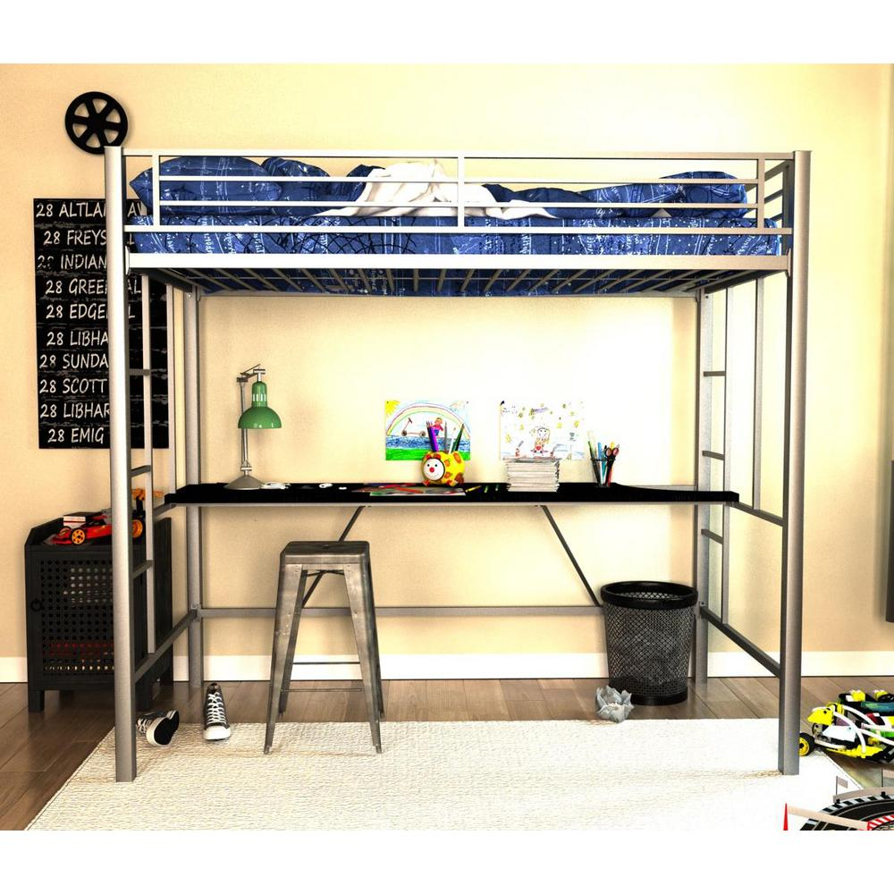 DHP Twin Metal Loft Bed 4069417