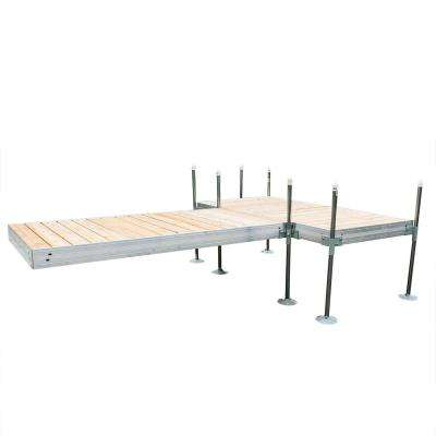 12 ft. T-Style Aluminum Frame with Cedar Decking Complete Dock Package