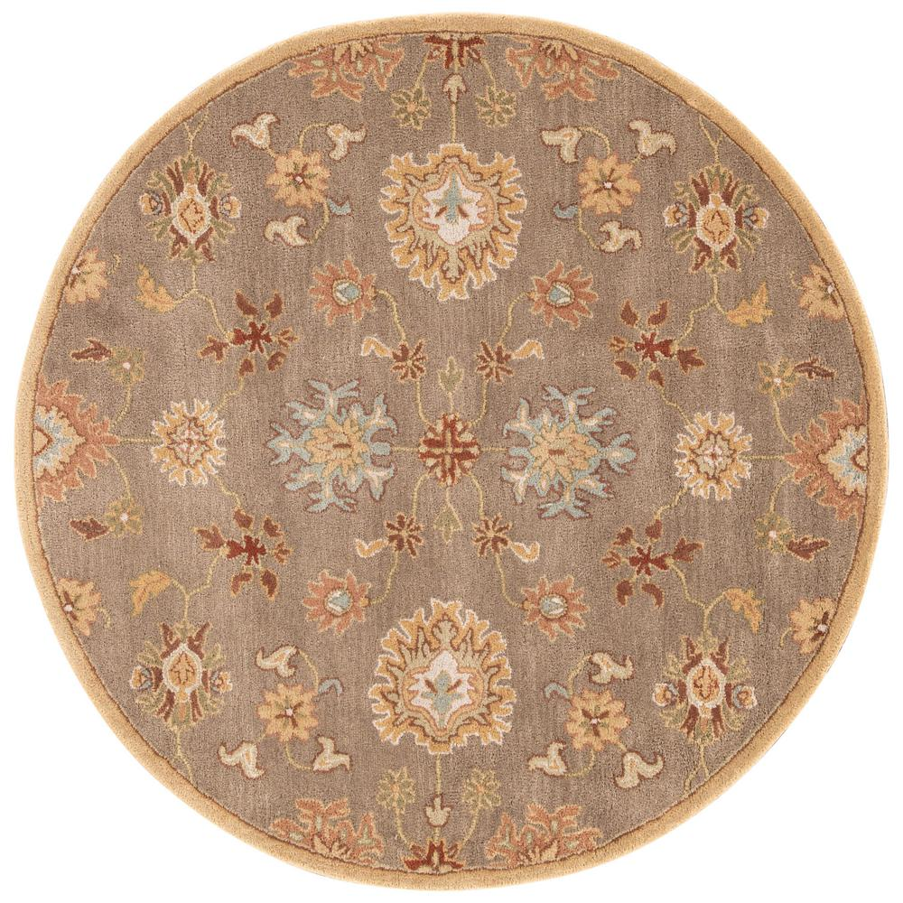 Fine Round Persian Bidjar Area Rug Hand Knotted Wool And: Jaipur Living Hand-Tufted Boa/Mahogany 8 Ft. Oriental