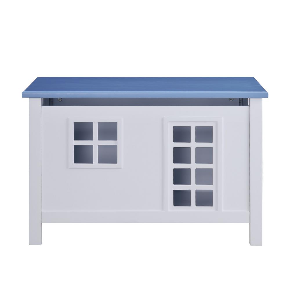 Doll Cottage White and Blue Youth Chest