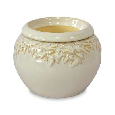 5 in. Ivy League Small White Ceramic Self Watering Planter