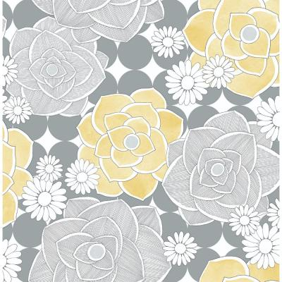 Retro Floral Vinyl Strippable Roll (Covers 30.75 sq. ft.)