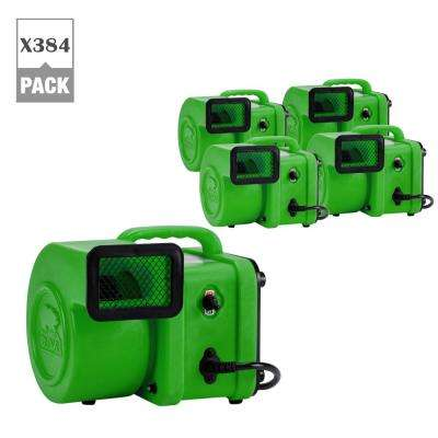 1/4 HP Mini Air Mover for Water Damage Restoration Carpet Dryer Floor Blower Fan in Green (384-Pack)
