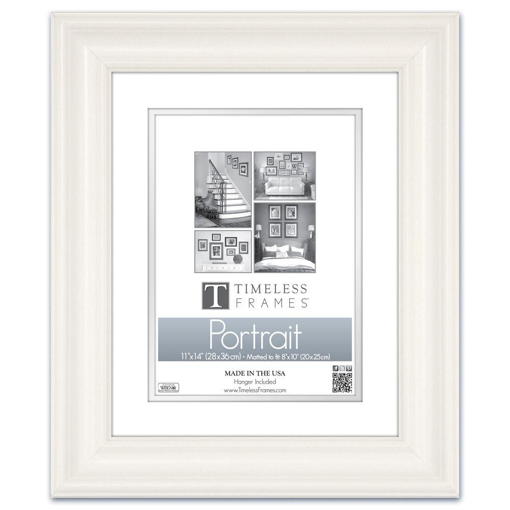 Timeless Frames Lauren 1 Opening 11 In X 14 In White Matted