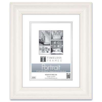 Lauren 1-Opening 11 in. x 14 in. White Matted Picture Frame