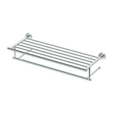 Glam 25.75 in. W Hotel Spa Rack in Chrome