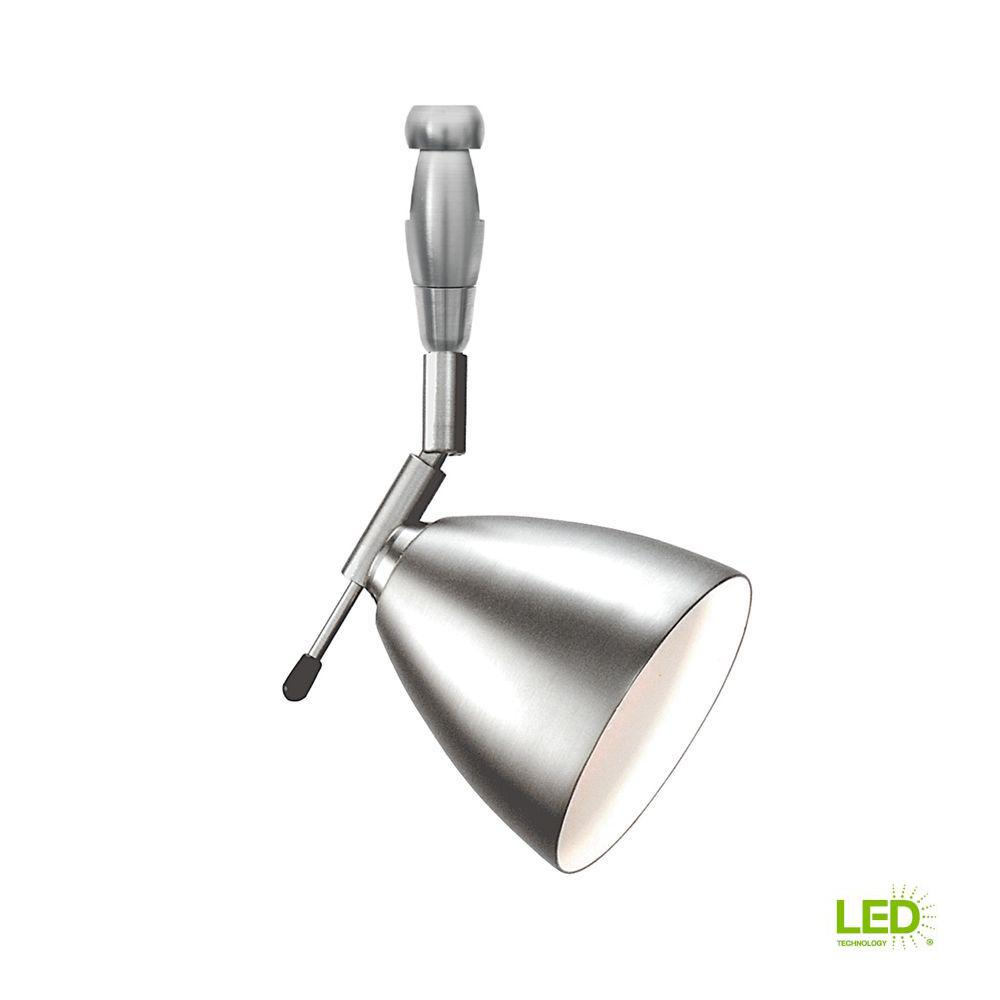 LBL Lighting Orbit Swivel I 1-Light Satin Nickel LED Track Lighting Head Orbit Swivel I 1-Light Satin Nickel LED Track Lighting Head easily blends with your home's existing decor. This is a low voltage head. This satin nickel finished steel fixture combines style and function.