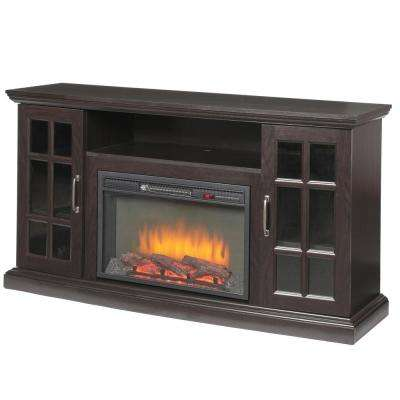 Edenfield 59 in. Freestanding Infrared Electric Fireplace TV Stand in Espresso