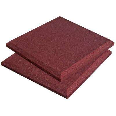 Auralex SonoFlat Panels - 1 ft. W x 1 ft. L x 2 in. H - Burgundy (14-Box)