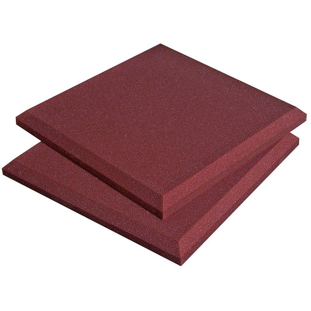 Auralex SonoFlat Panels - 1 ft. W x 1 ft. L x 2 in. H - Burgundy (14-Box)