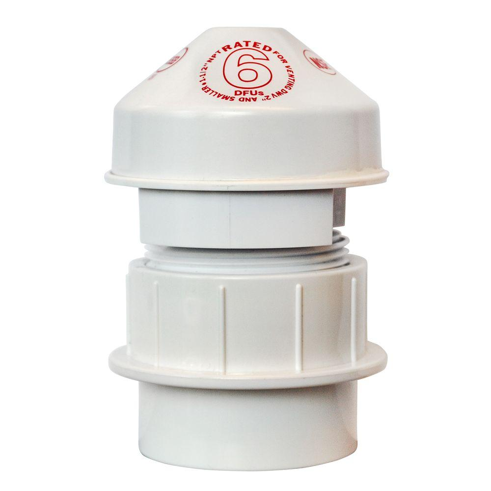 Oatey Sure-Vent 1-1/2 in. PVC Air Admittance Valve - 20 DFU Branch, 8 DFU Stack