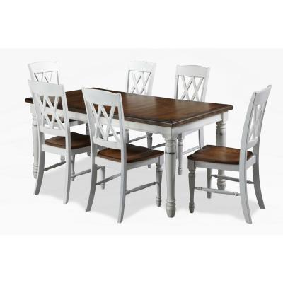 Monarch 7-Piece White Dining Set