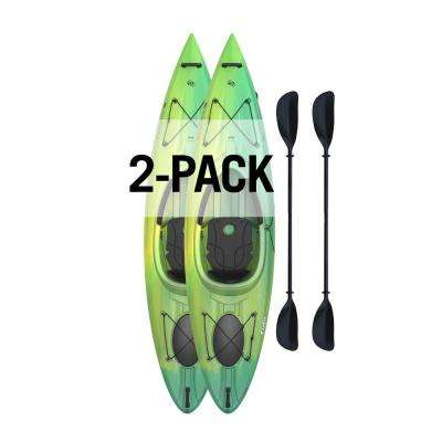 Emotion Tide 10 Sit-In Kayak - Paddles Included (2-Pack)