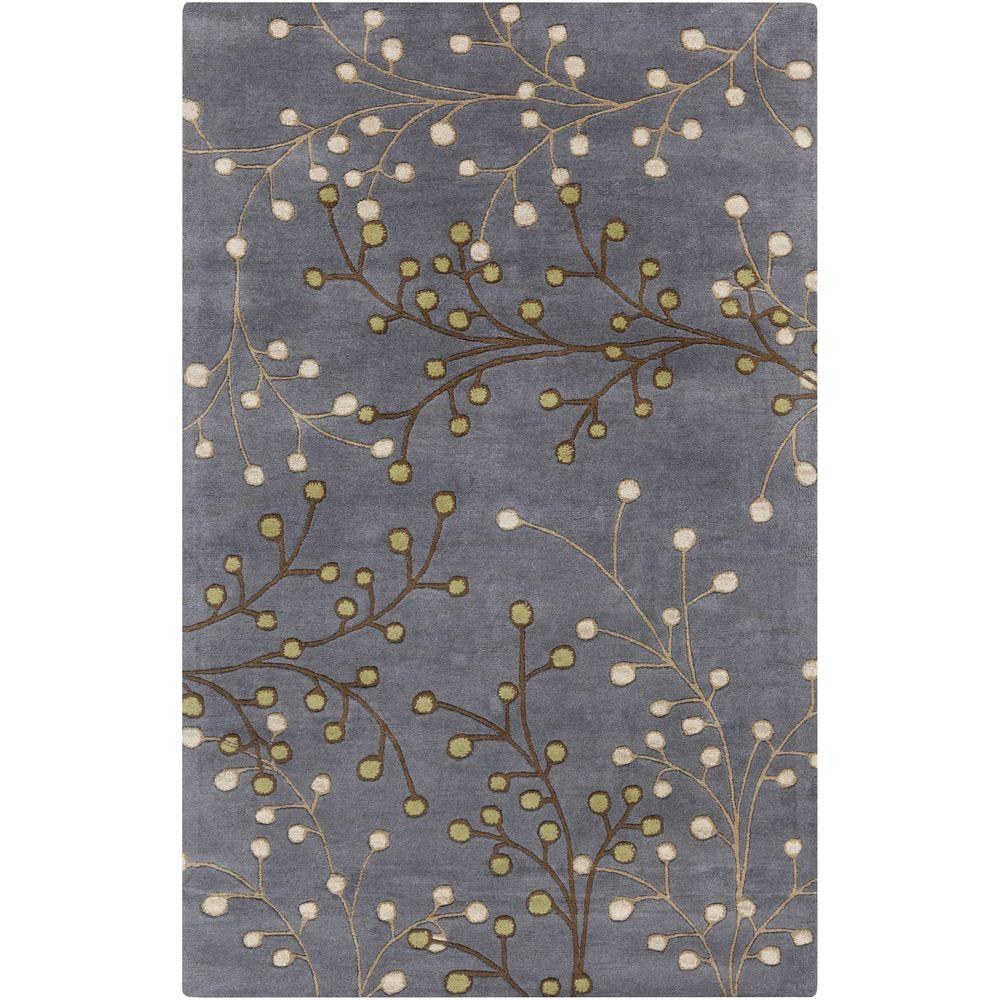 Aloysia Charcoal 9 ft. x 12 ft. Indoor Area Rug
