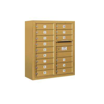 3800 Horizontal Series 15-Compartment Surface Mount Mailbox
