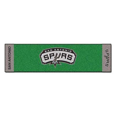 NBA San Antonio Spurs 1 ft. 6 in. x 6 ft. Indoor 1-Hole Golf Practice Putting Green