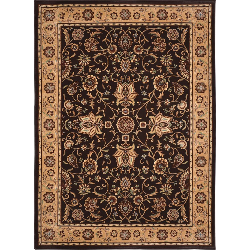 Home Dynamix Mercedes Brown/Gold 1 ft. 10 in. x 2 ft. 11 in. Indoor Area Rug
