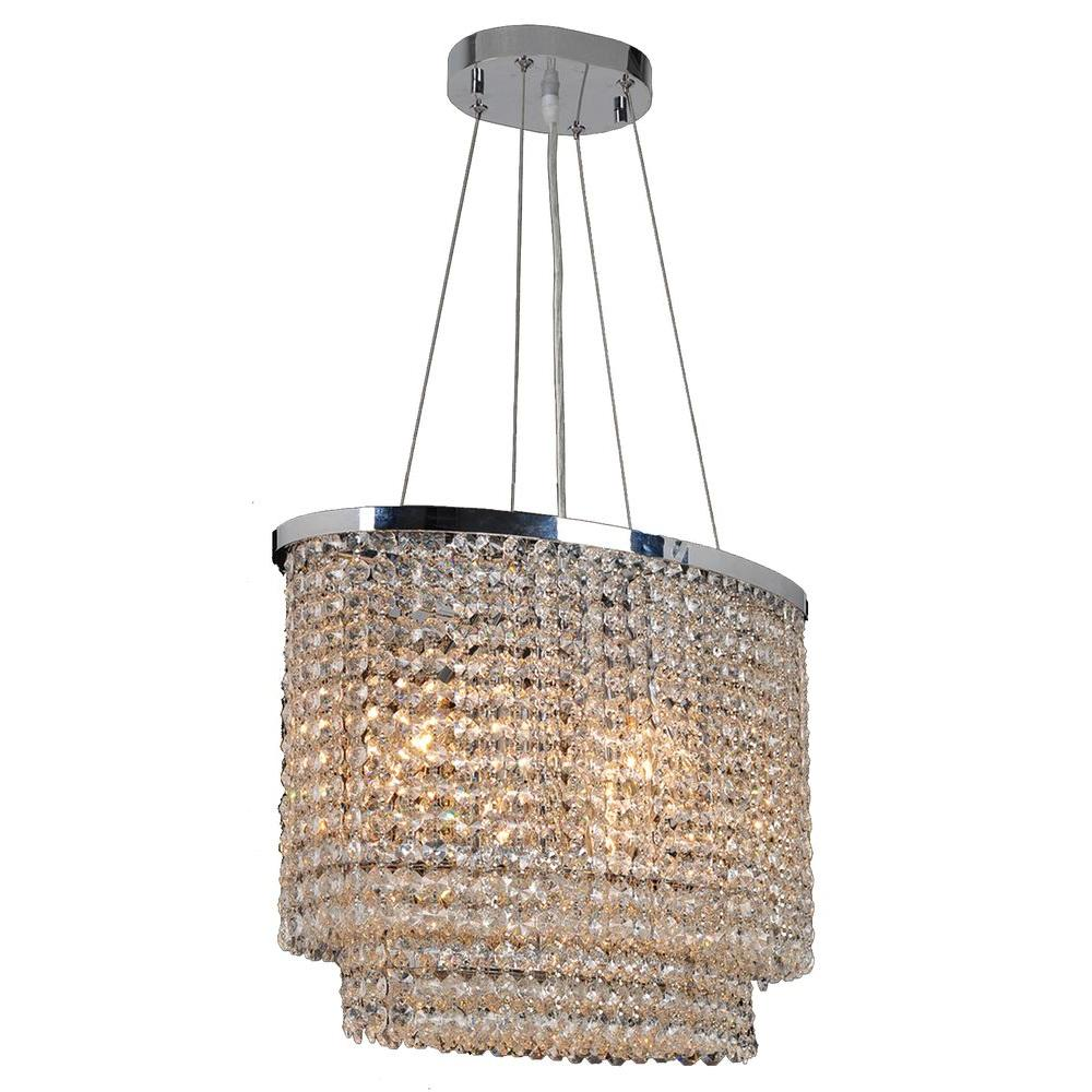 Worldwide Lighting Prism Collection 6-Light Chrome Chandelier