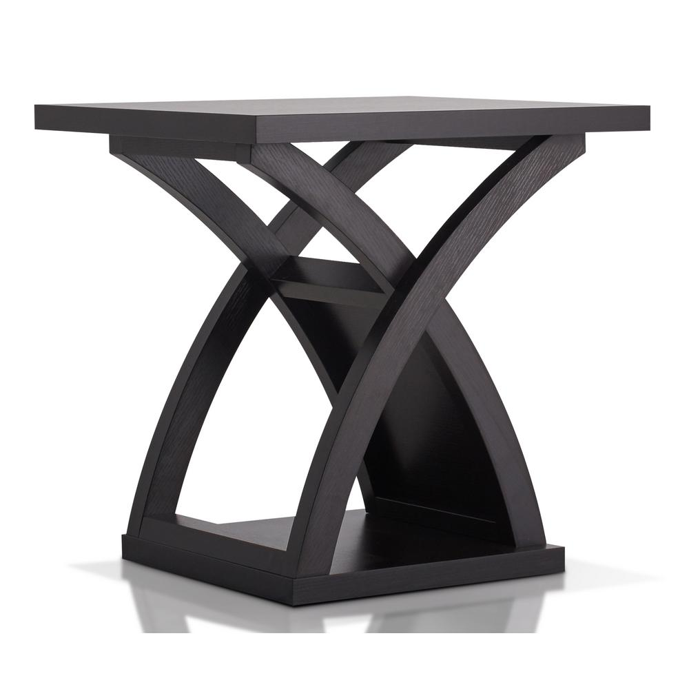 Furniture Of America Luxor Espresso End Table Idf 4641e The Home Depot