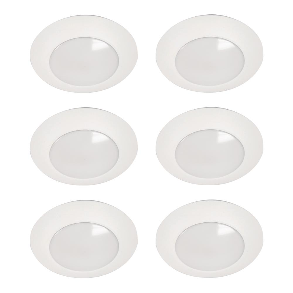HLC 6 in. 3000K Integrated LED Recessed Closet Light Trim (6-Pack)