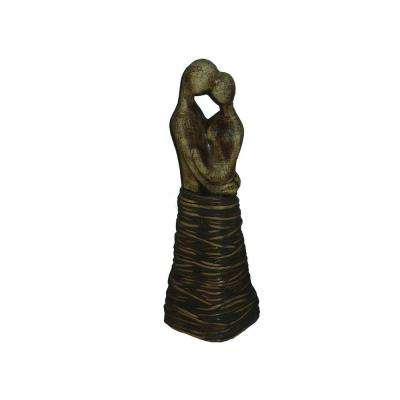 13.6 in. H Ceramic Decorative Statues in Brown