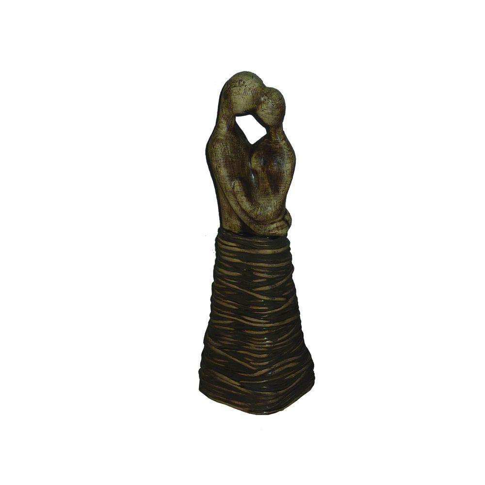 13.6 in. H Ceramic Decorative Statues in Brown