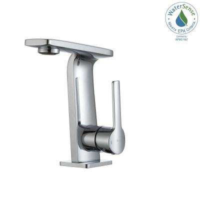 Novus Single Hole Single-Handle Mid-Arc Bathroom Faucet in Chrome