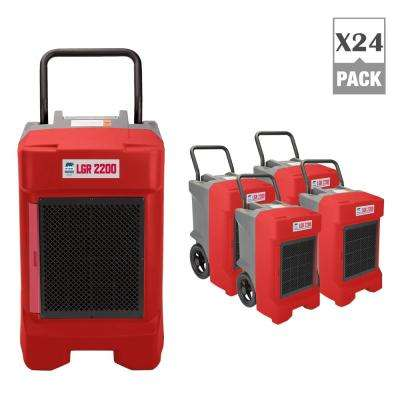 225-Pint Commercial Dehumidifier for Water Damage Restoration Mold Remediation in Red (24-Pack)