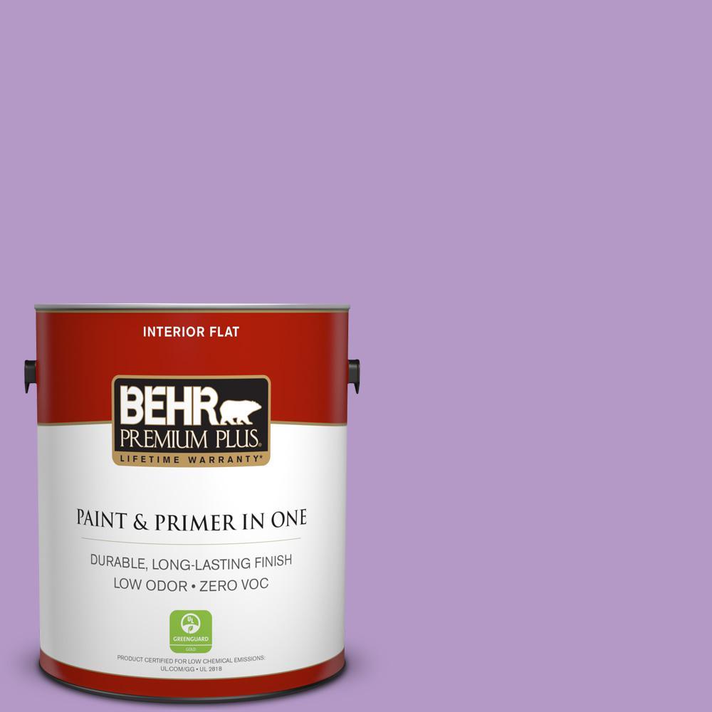 BEHR Premium Plus 1-gal. #660B-5 Atlantic Tulip Zero VOC Flat Interior Paint