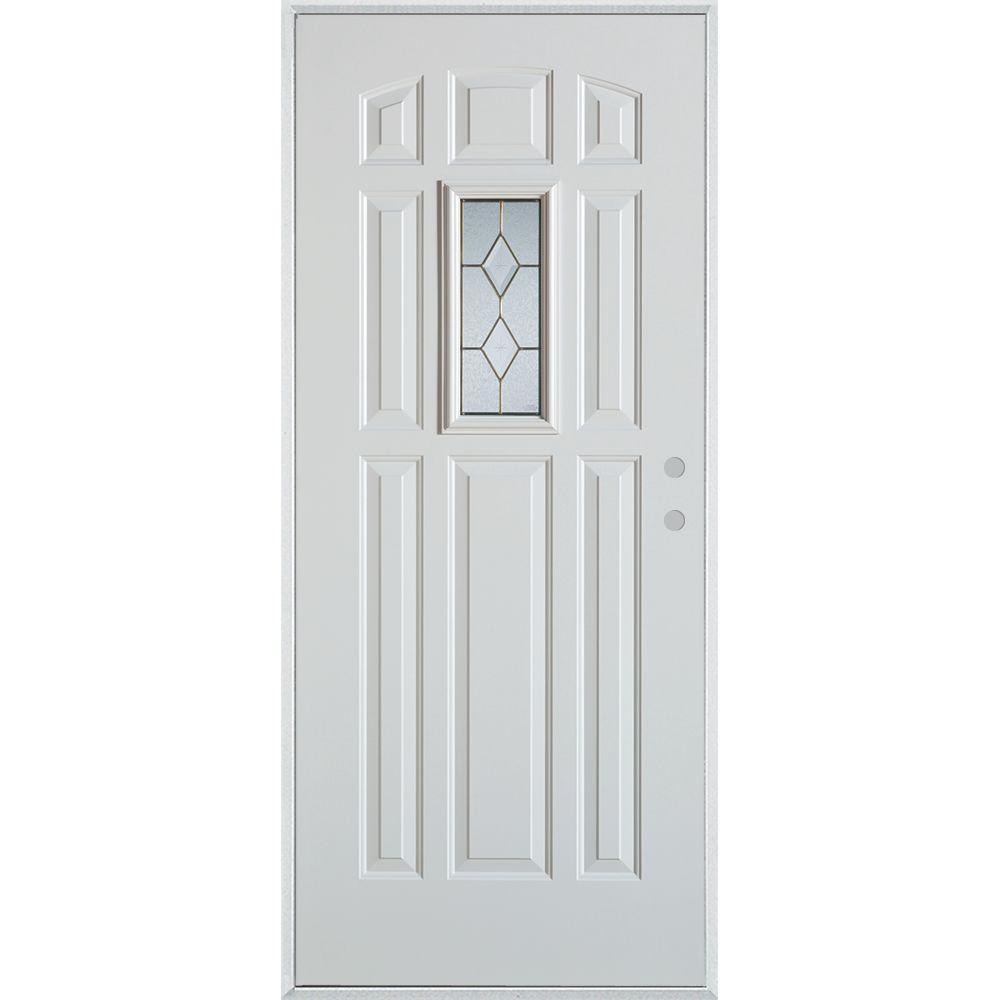 Stanley Doors 36 In X 80 In Geometric Zinc Rectangular Lite 9