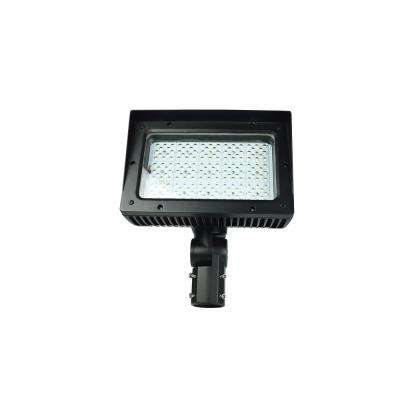 Myriad 30-Watt Black Integrated LED Outdoor Dimmable Flood Light