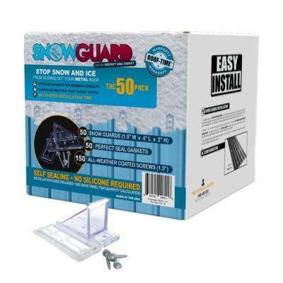 UV Clear 1.5 in. Mini Snow Guard with Perfect Seal Gasket and Mounting Screws (50 Pack)