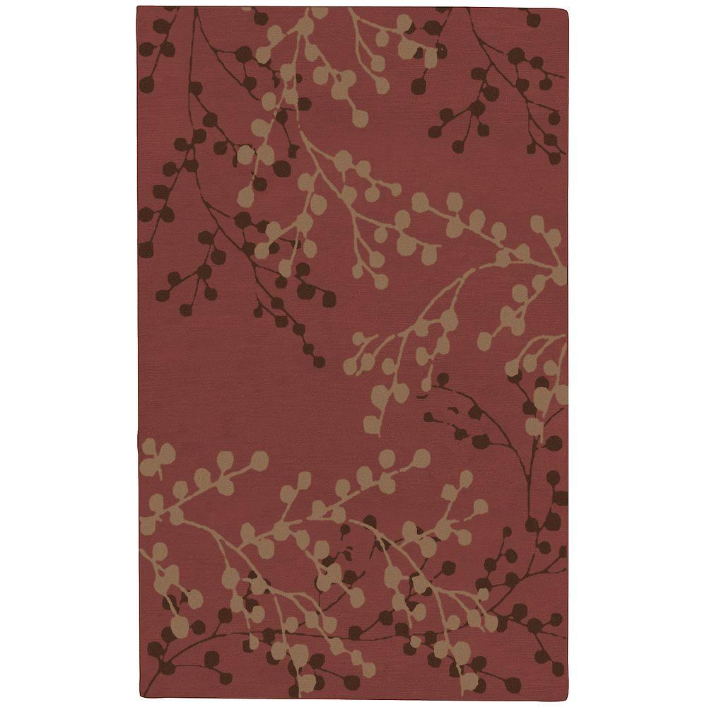 Artistic Weavers Blossoms Rust 9 ft. x 12 ft. Area Rug