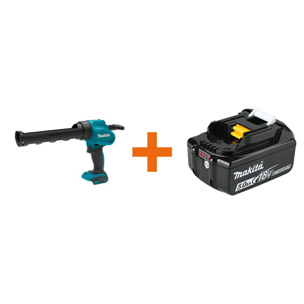 18-Volt LXT Lithium-Ion 10 oz. Cordless Caulk and Adhesive Gun (Tool-Only) with Bonus 18-Volt LXT Battery Pack 5.0Ah