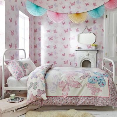 Butterfly Pink Pink Wallpaper Sample