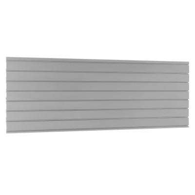 Bold 3.0/Performance 2.0 22.87 in. H x 72 in. W x 0.5 in. D Steel Garage Slatwall Backsplash in Silver