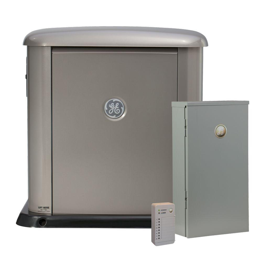 GE 13,000-Watt Air-Cooled Generator System and Remote Power Monitor-DISCONTINUED