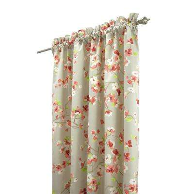 Hana 72 in. Pink/Grey Shower Curtain