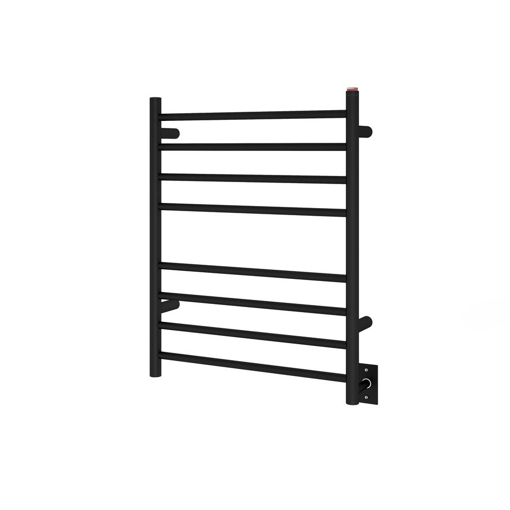 Ancona Prestige Dual 8-Bar Hardwired and Plug-in Towel Warmer in Matte Stainless Steel