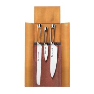 N1 Series 4-Piece Leather Roll Knife Set