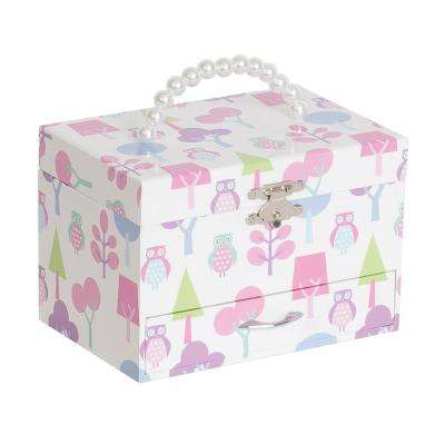 Molly Girl's White Fashion Paper Musical Ballerina Jewelry Box