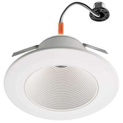 6 in. 3000K White 1000 Lumens Dimmable High Output Ultra Low Glare Integrated LED Recessed Trim Soft White Downlight