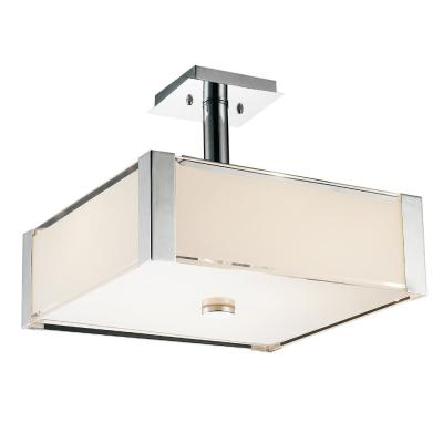 Lucie 5-Light Chrome Chandelier with White shade