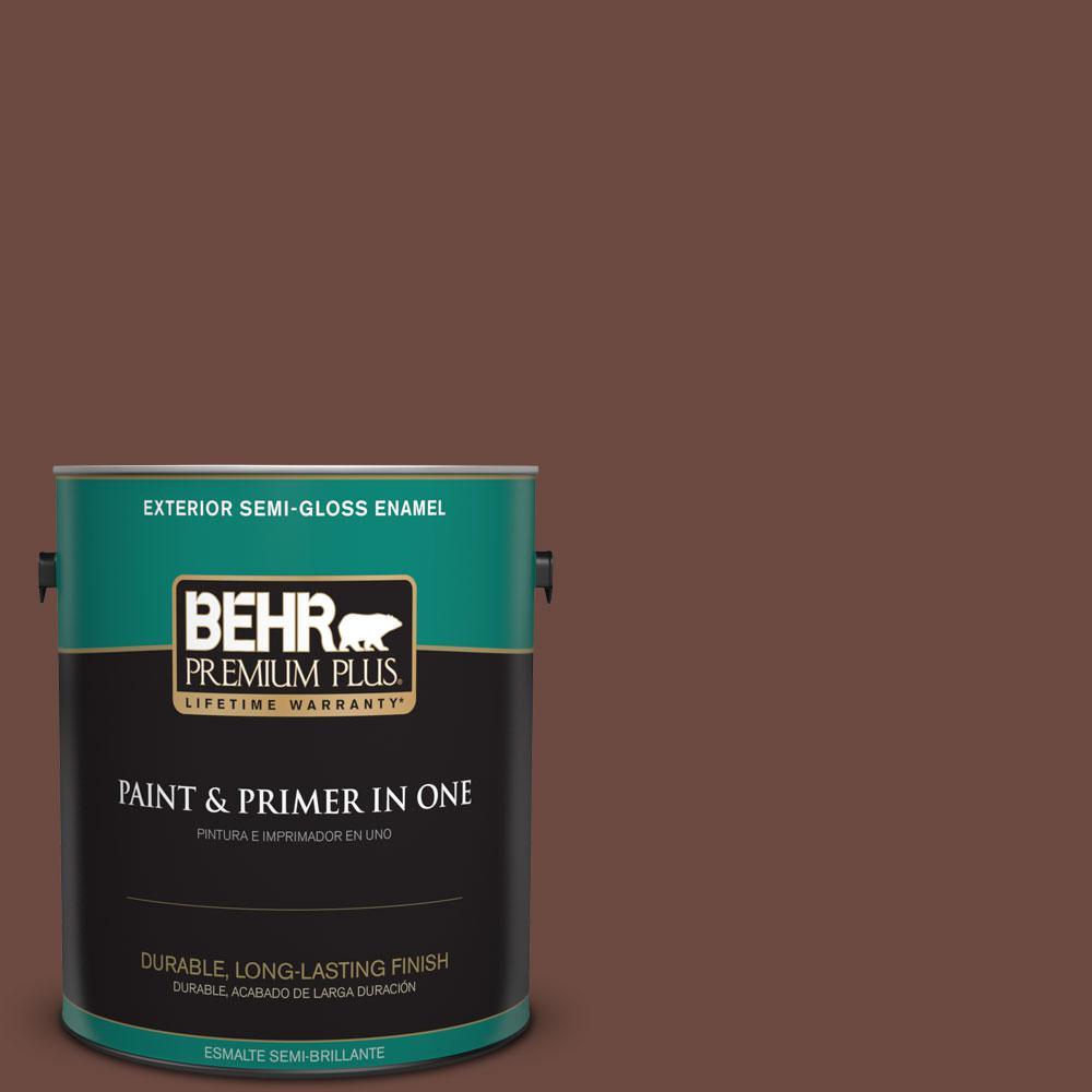 1-gal. #BNC-32 Maximum Mocha Semi-Gloss Enamel Exterior Paint