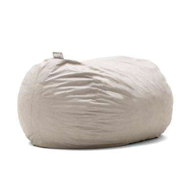 XL FUF Shredded Ahhsome Foam Oat Lenox Bean Bag