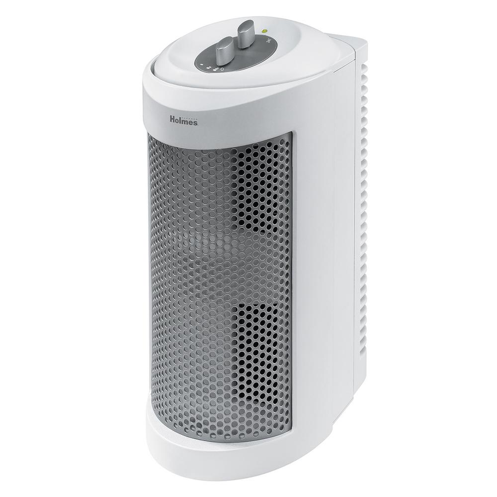 Holmes Holmes Allergen Remover Air Purifier Mini-Tower with True HEPA Filter, White
