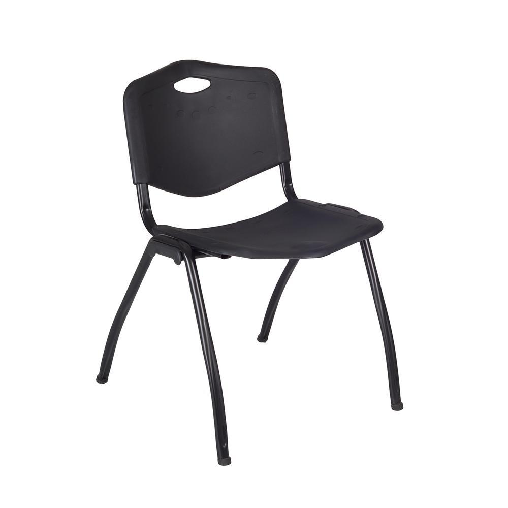 Attirant Regency U0027Mu0027 Black Stack Chair
